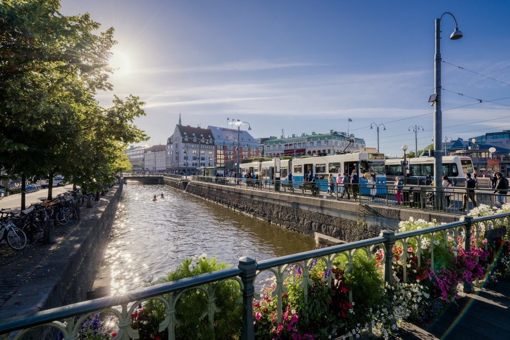 Gøteborg - Kanal - trikker - Sverige