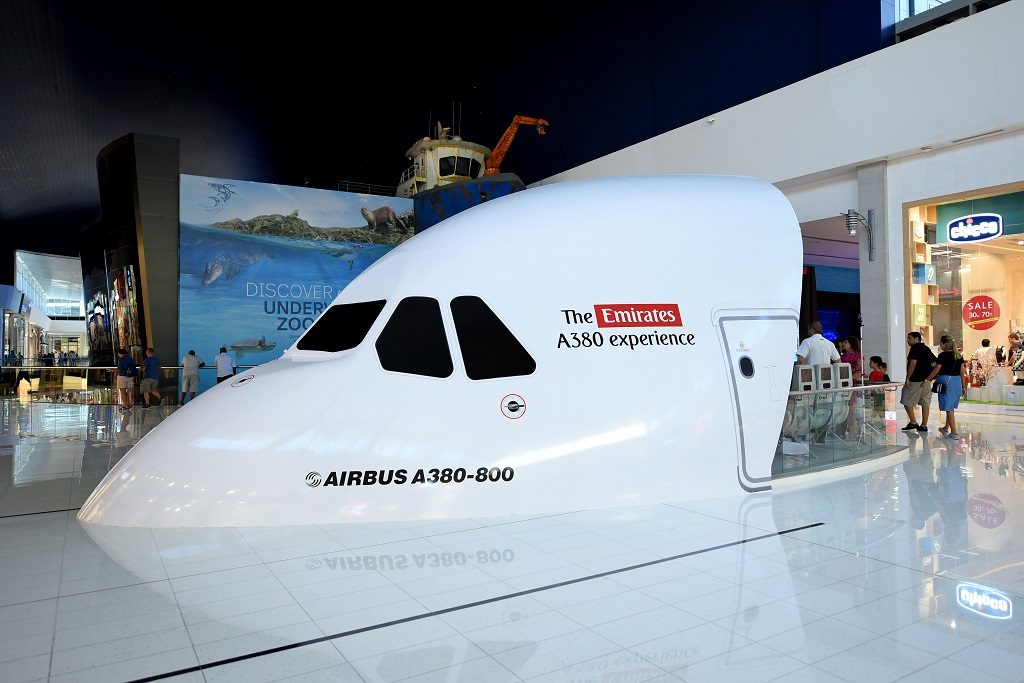 Emirates A380 Experience - flysimulator - Dubai Mall