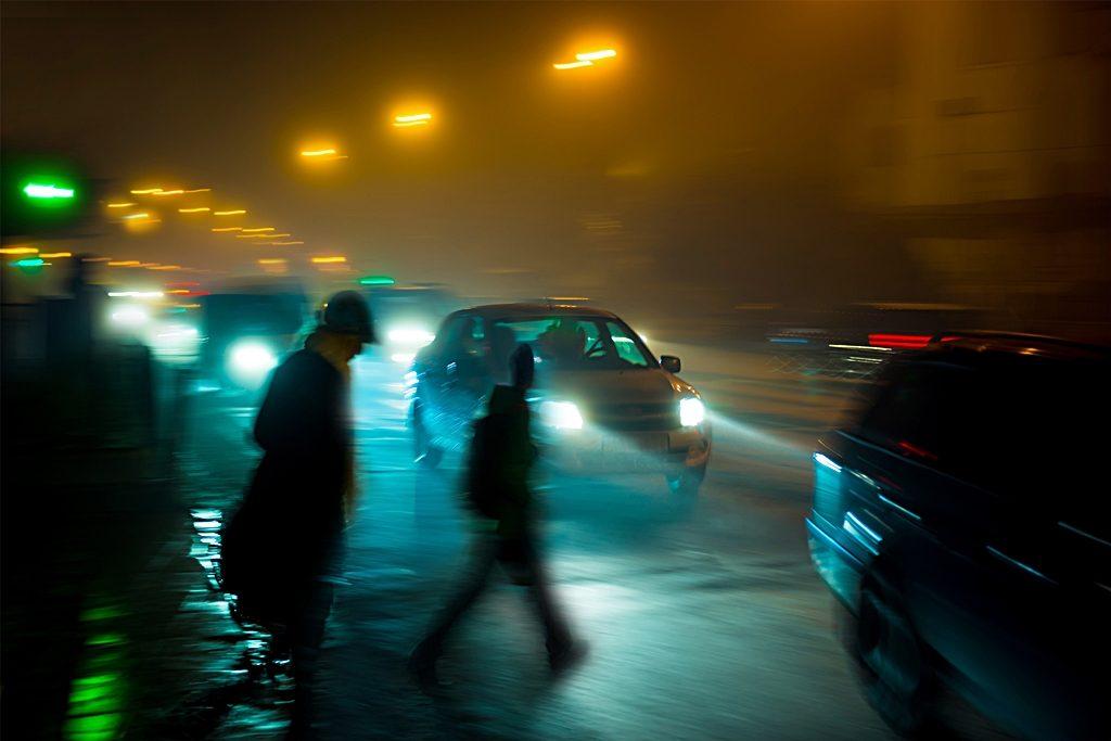 fotgjengere, -biltrafikk - Mørke - synbarher - refleks - Trygg Trafikk