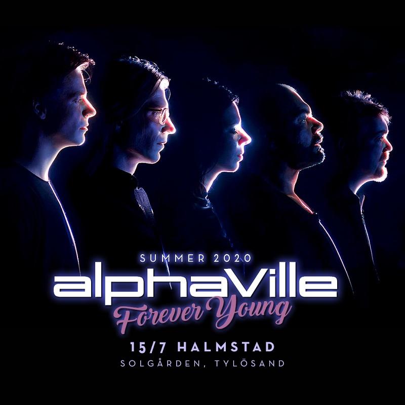 Alphaville konsertplakat - Tylösand - Sverige - 2020