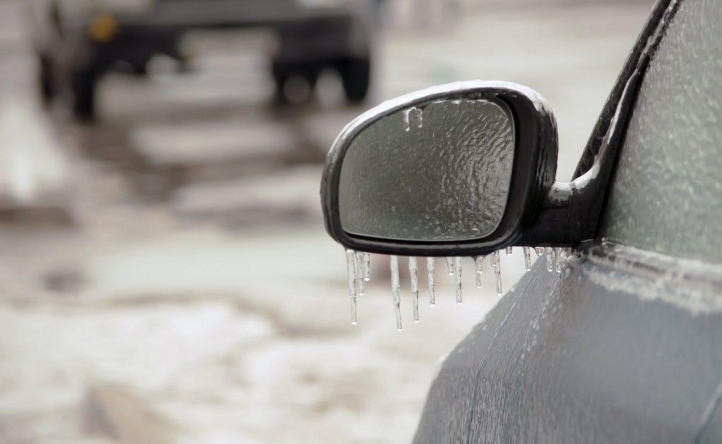 Frost- Is - Bil - Frontrute - Speil - NAF