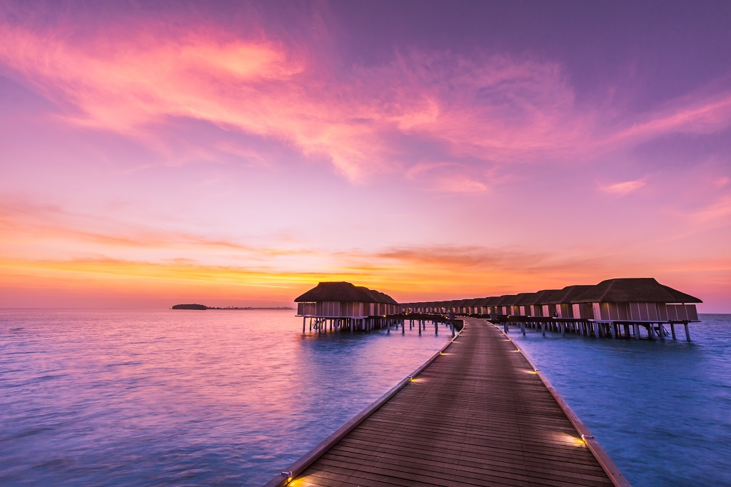 Aftenstemning - Maldivene - Det indiske hav - Emirates