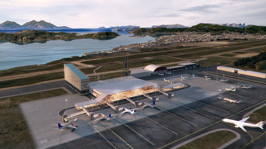 Ny lufthavn i Bodø - illustrasjonsfoto -2019