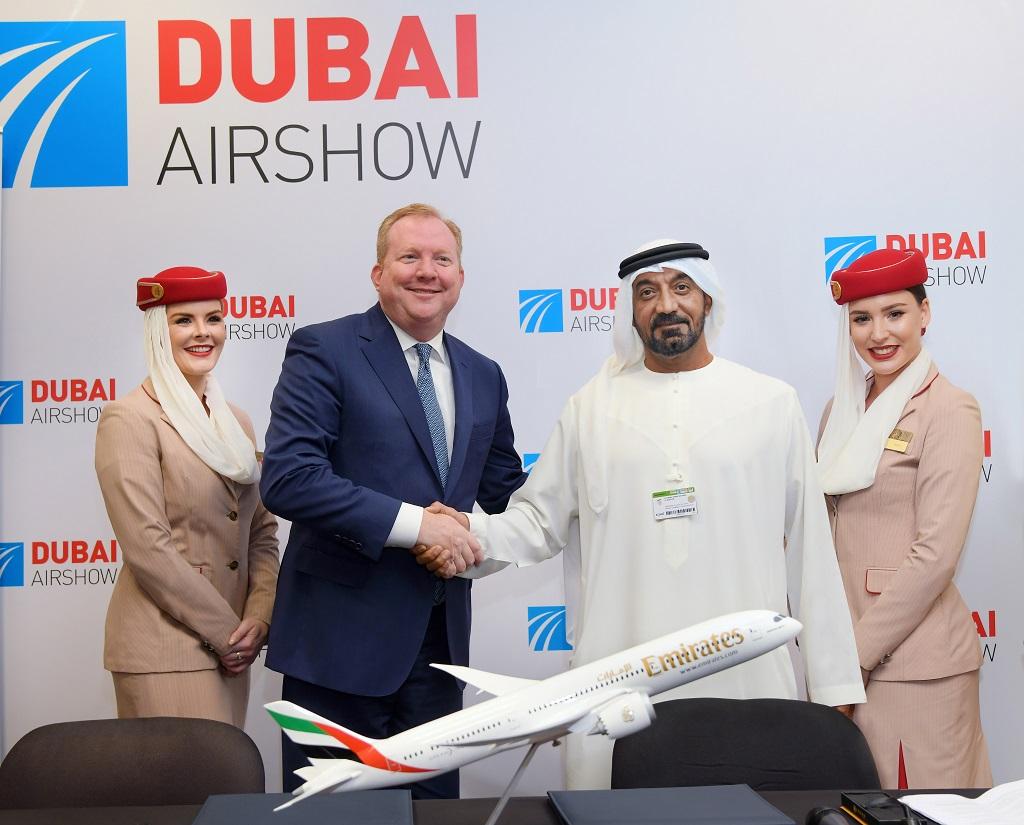 Emirates - Boeing 787 Dreamliner - Kontraktinngåelse - Dubai Airshow 2019