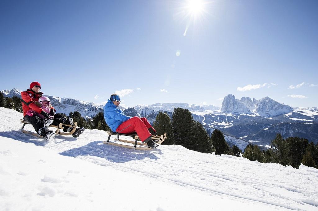 Kjelke - Snø - Val Gardena - Nord-Italia - Dolomittene