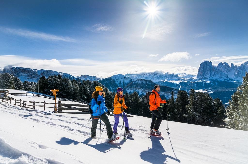 Snøsko - Vandring -al Gardena - Nord-Italia - Dolomittene