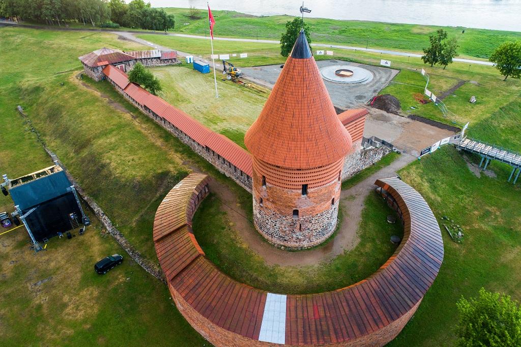 584 kilometer Litauen - Kaunas Castle - Festningsverk - 1400-tallet