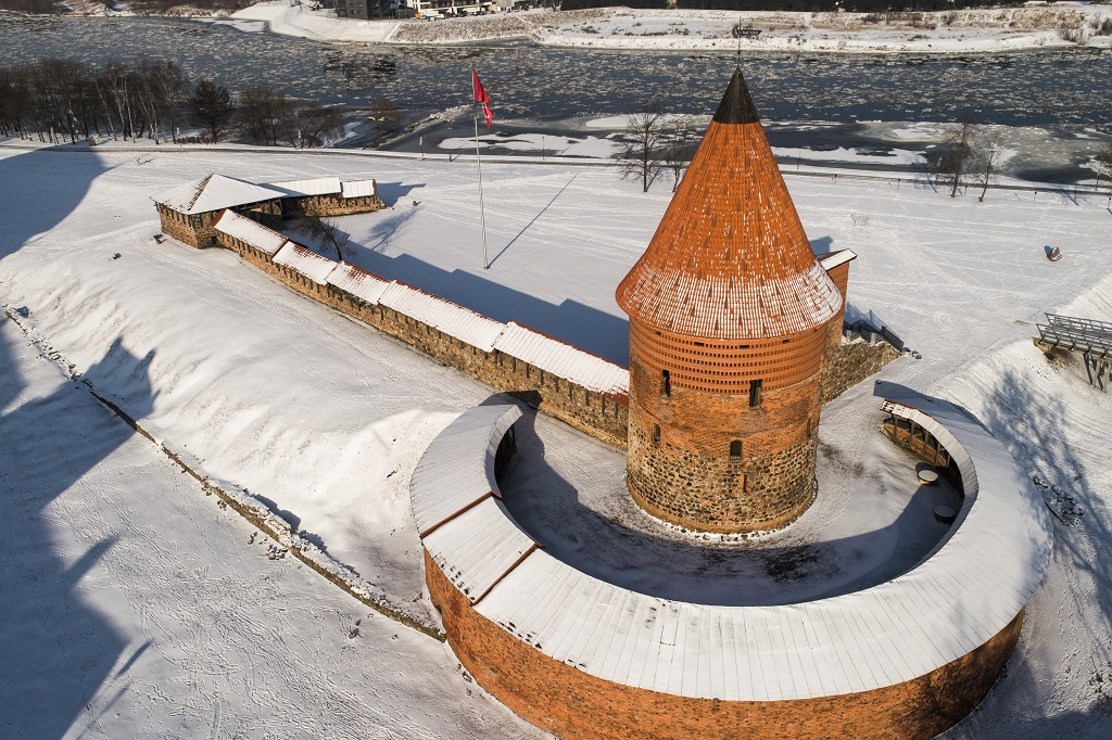 584 kilometer Litauen - 584 kilometer Litauen - Kaunas Castle - Festningsverk - 1400-tallet