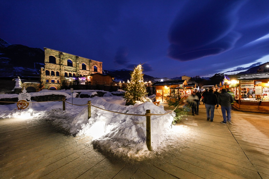 Julemarked - Teatro Romano - Aosta - Nord-Italia