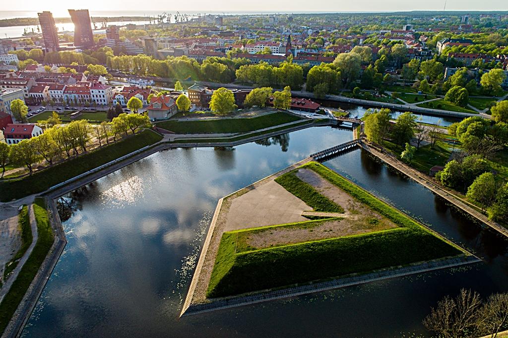584 kilometer Litauen - Klaipeda - Jono Kalnelis - Bastions of St. John's Hill- Festningsverk
