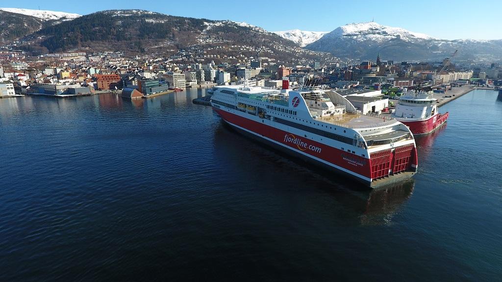 Fjord Line - MAS Bergensfjord - Bergen Havn - Vinter