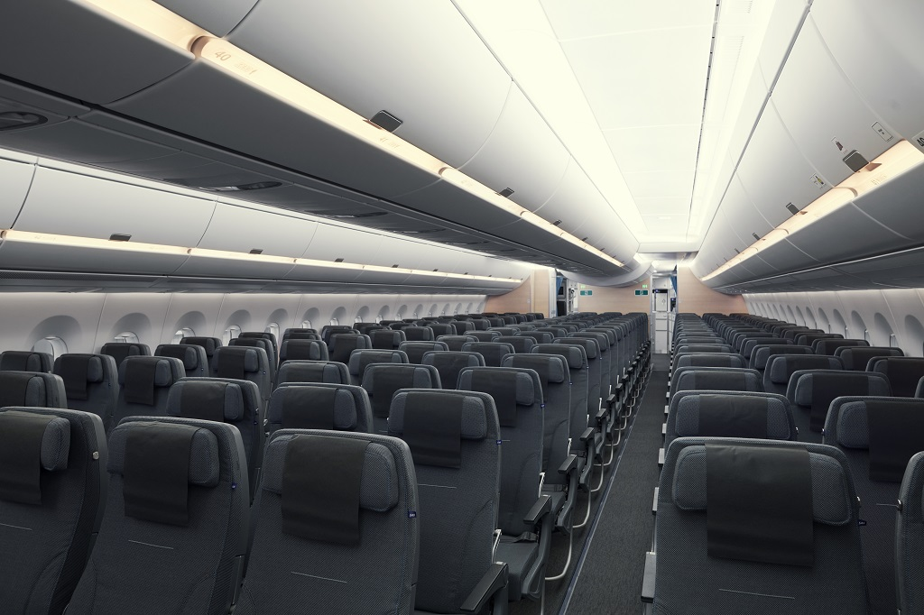 Økonomiklasse - Kabin - SAS - Airbus A 350 XWB