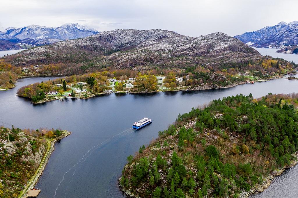 Rygerdronningen - turistbåt - Ryfylke - Lysefjorden - Rødne Trafikk