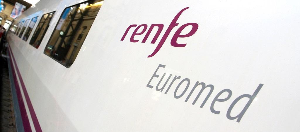 RENFE - Euromed- Tog - Spania - Illustrasjon