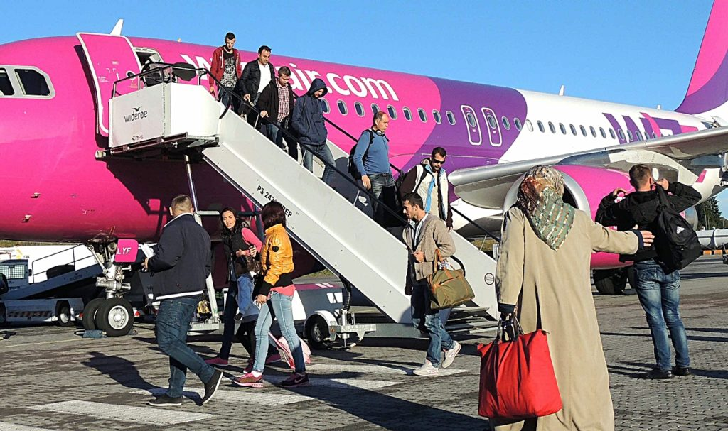 Wizz Air på Sandefjord Torp - Airbus A 320