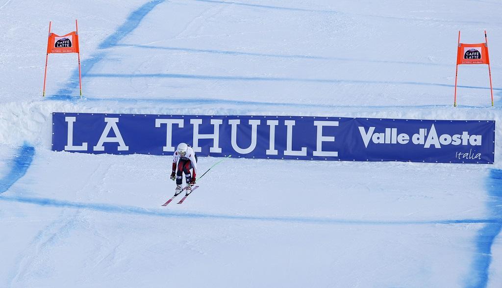 Larissa Yurkiw -Alpinist - Canada - Målgang World Cup utfor - La Thuile - Aosta - Italia