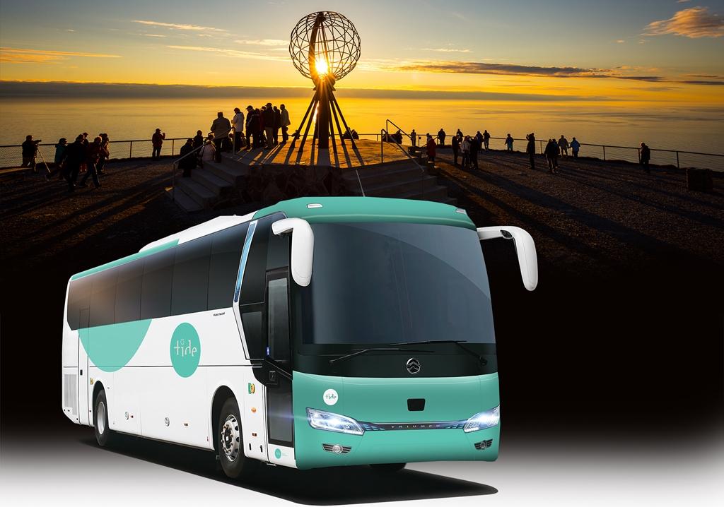Tide - Elektrisk turbuss - Nordkapp - Illustrasjon