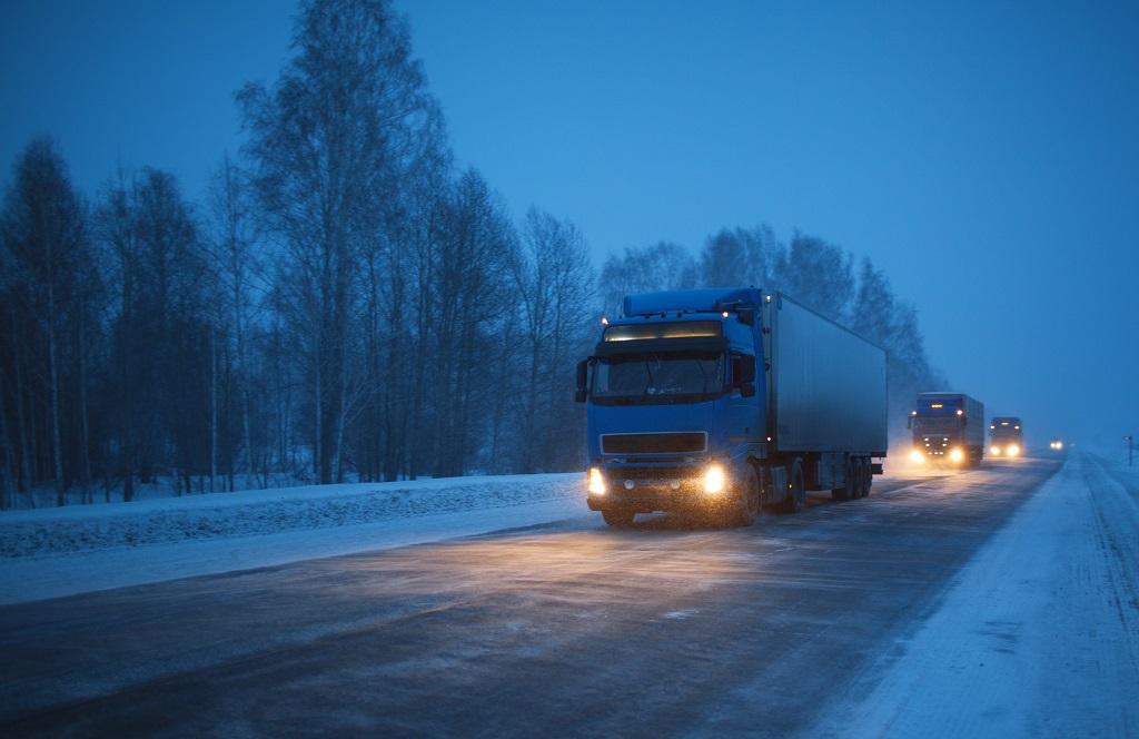 Illustrasjon - Tunge Kjøretøy - Vinterføre - Trygg Trafikk