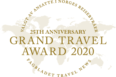 Grand Travel Awards Norge - 25 år - 2020
