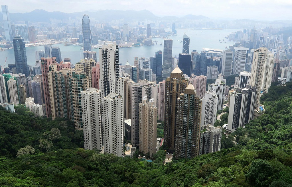 Hong Kong - Skuskrapere - Skyline