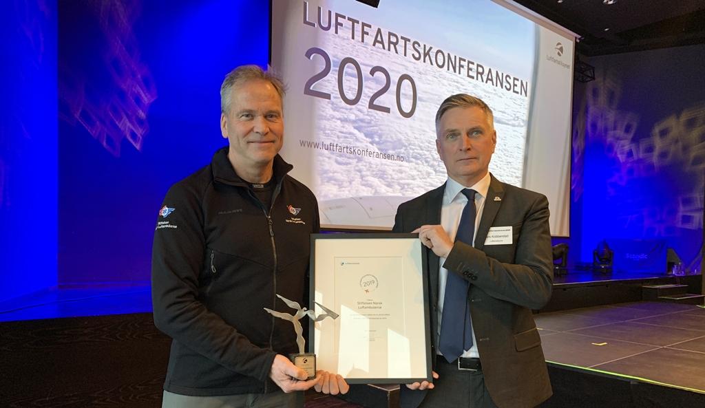 Luftfartstilsynets Sikkerhetspris 2019 - Værkameraer - Stiftelsen Norsk Luftambulanse