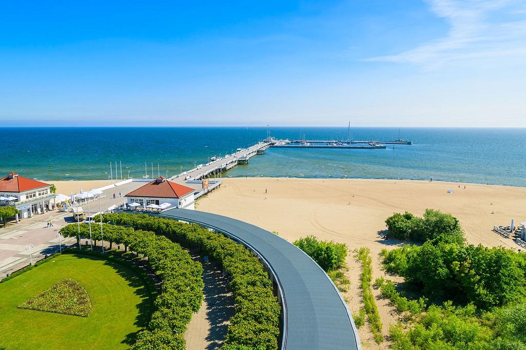 Strand - Sopot - Polen - Østersjøen - Finn Reise