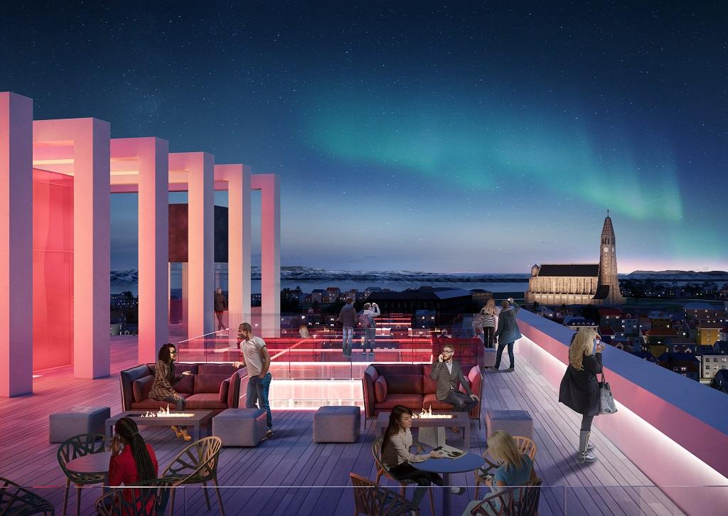 Terrasse - Hallgrimskirken - Radisson RED Reykjavik