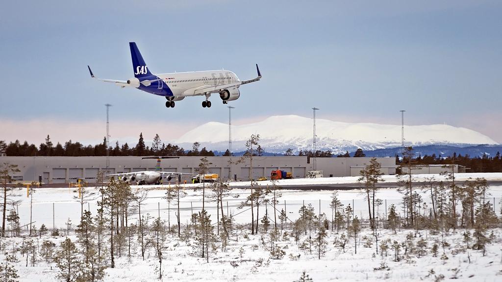 SAS- Airbus A320neo - Scandinavian Mountains Airport - SkiStar