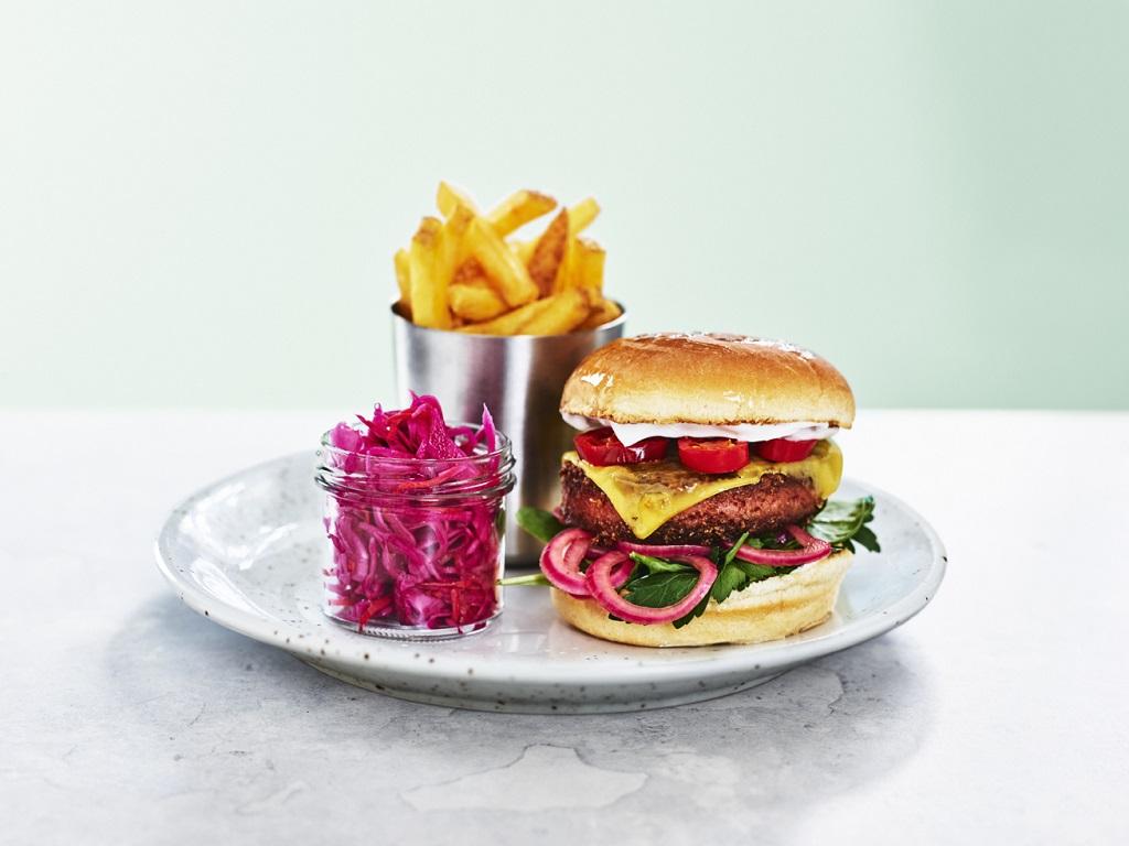 O'Learys - Restaurant- og sportsbarkjede - Vegan cheeseburger
