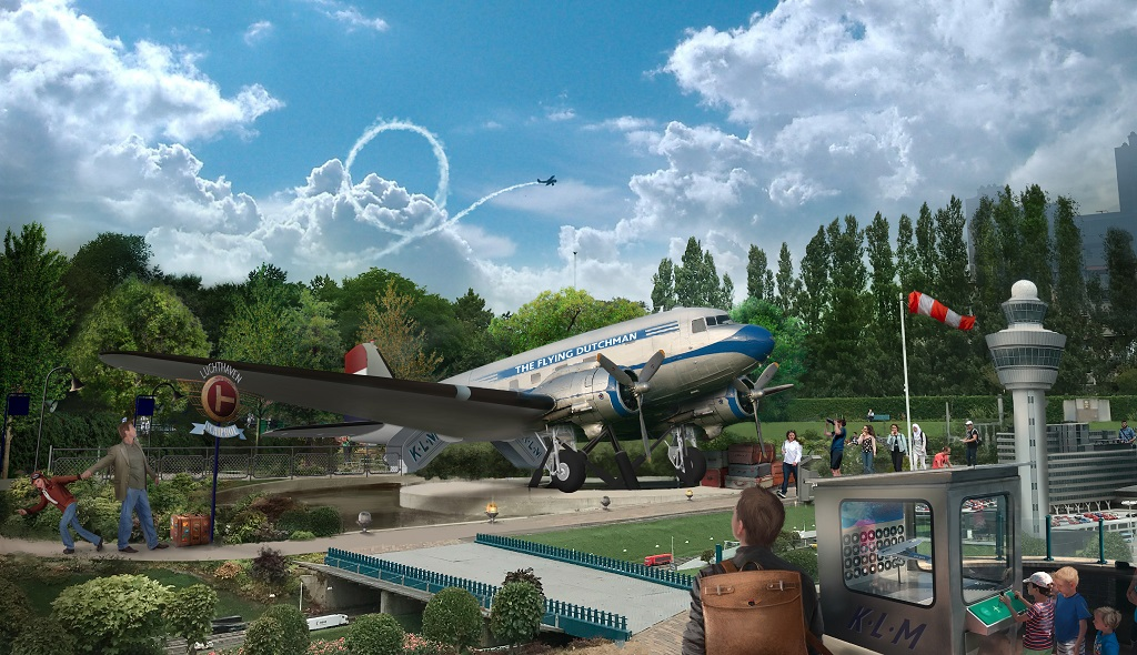 Illustrasjon - DC 3 - Dakota - KLM - Madurodam