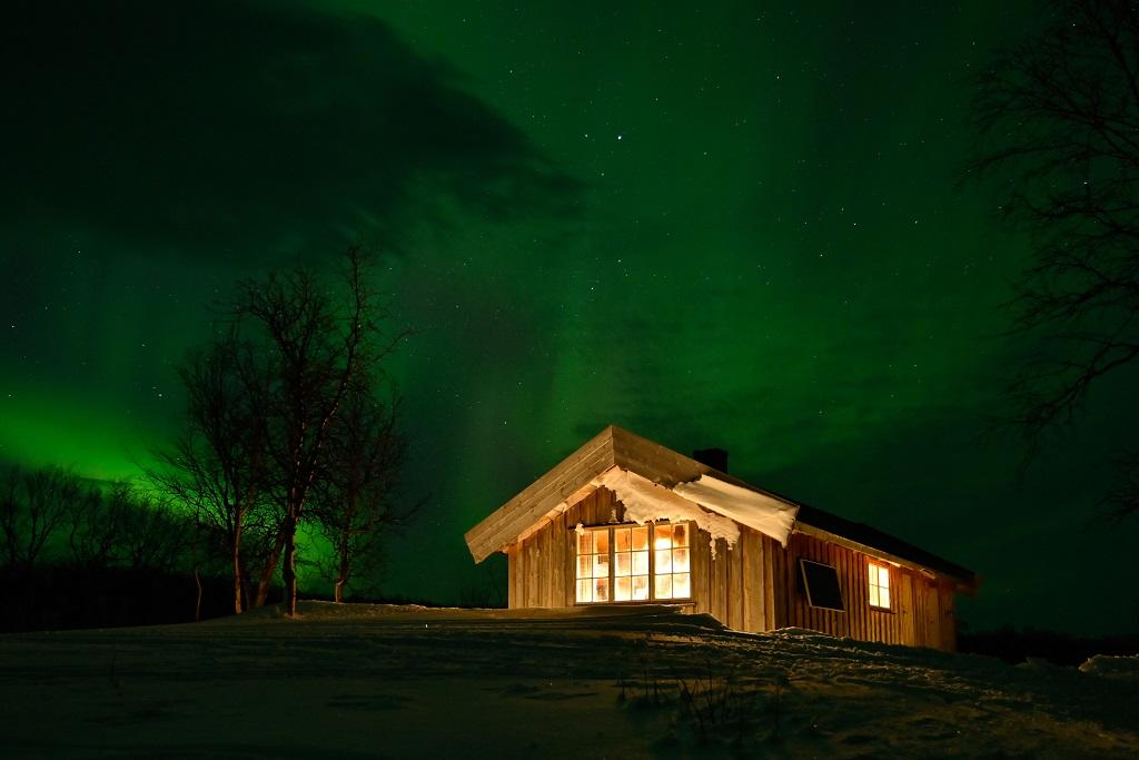 Nordlys - Tiplingen Skogstue - Hattfjeldal - Vefsn - Børgefjell nasjonalpark - Nordland - Statskog