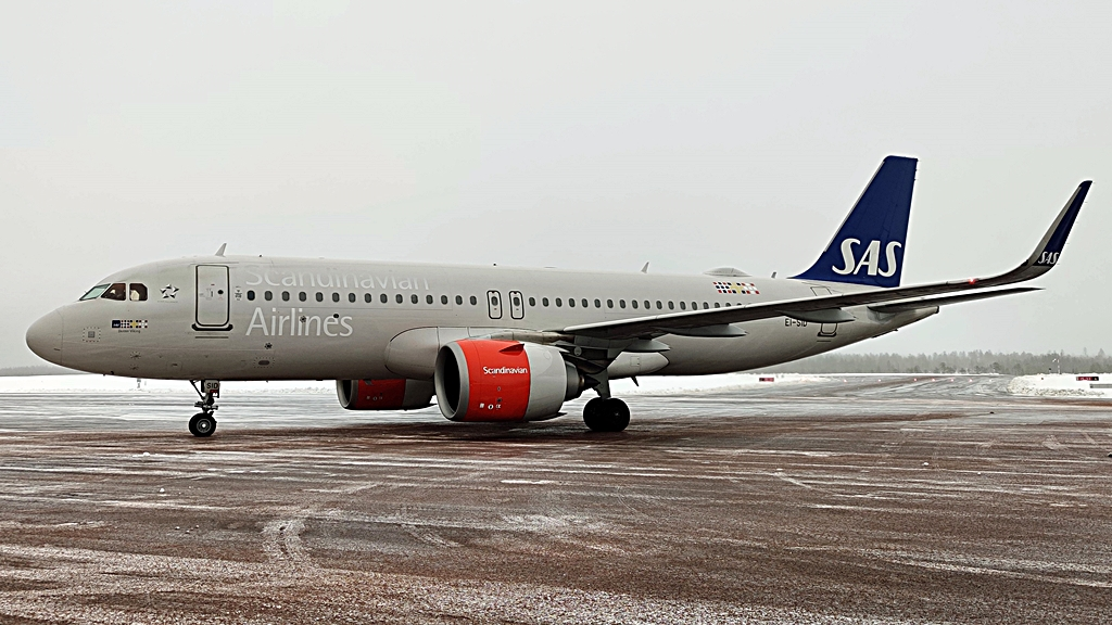 SAS - Airbus A 320 - Scandinavian Mountains Airport - Februar 2020