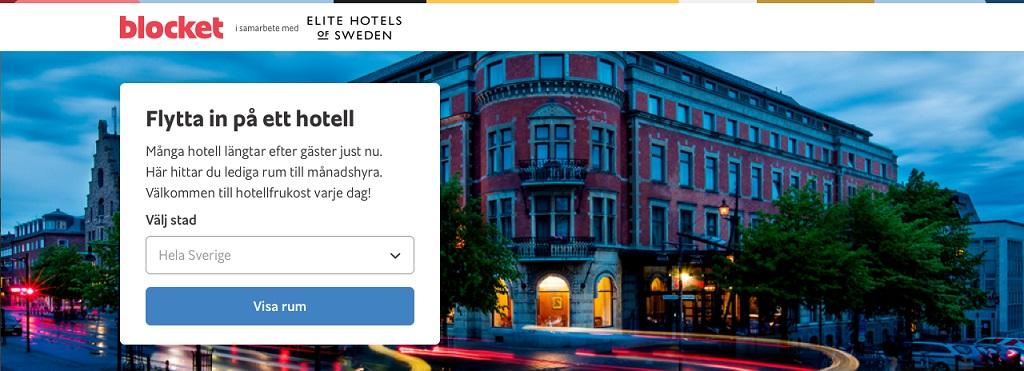 Elite hotels - Blockethotell - nettside - sverige - Elite hotels