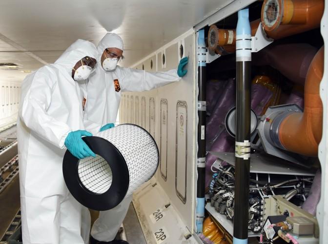Emirates - Flykabin - Luftfilter - desinfisering