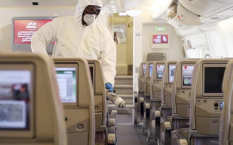 Emirates - Flykabin - Rengjøring - desinfisering