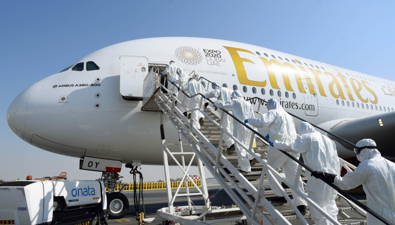 Emirates - Airbus A 380 - Rengjøring - desinfisering