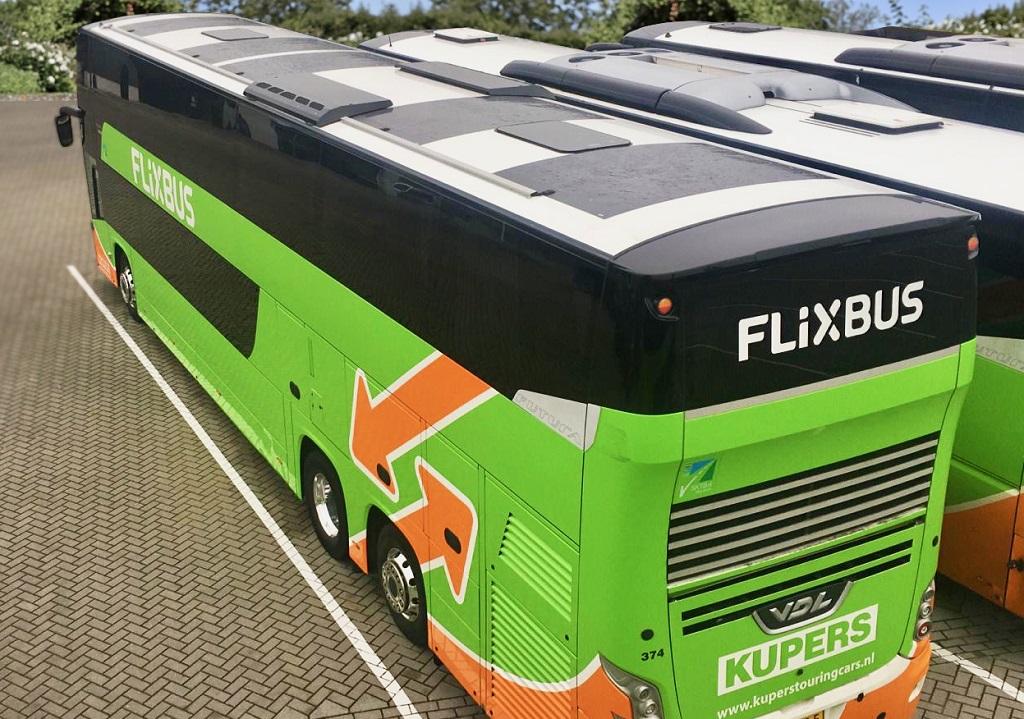 FlixBus - solpaneler - langdistansebuss