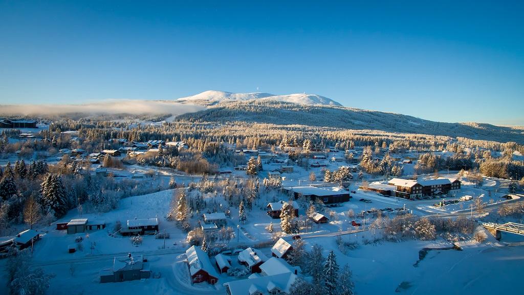 Trysil - Vinter - Skibygd - Sentrum - Oversikt