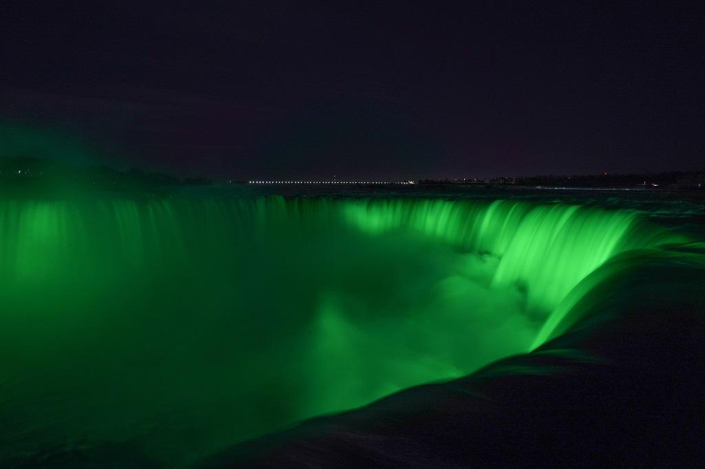 Niagara Fall - Fossefall - USA - canada - St. Patricks Day - 2020 - Irland - Nasjonaldag