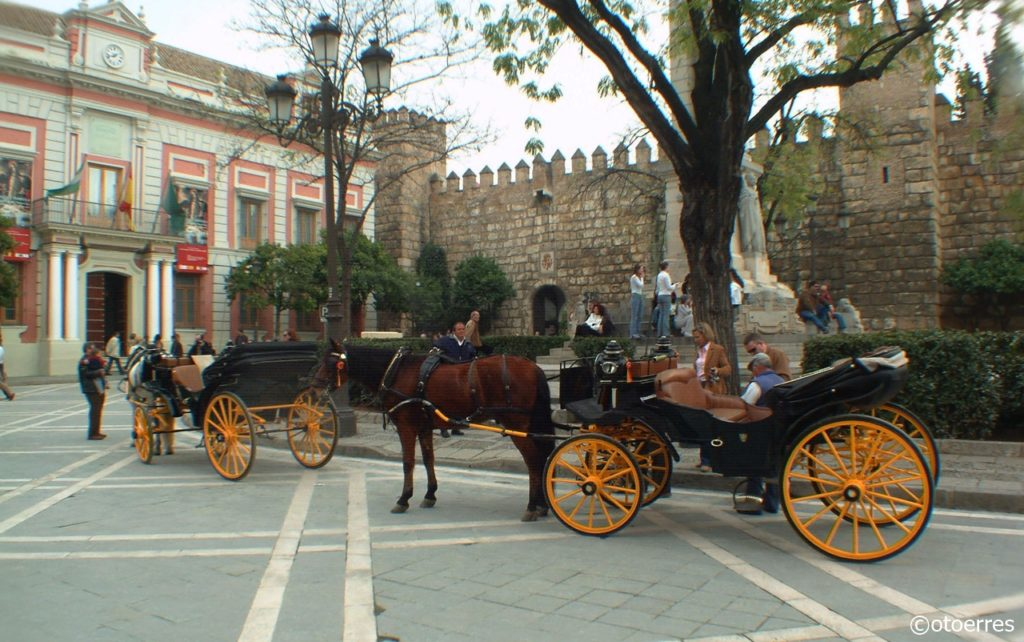 Domkirkeplass - Bymur - Sevilla - Andalusia - Spania