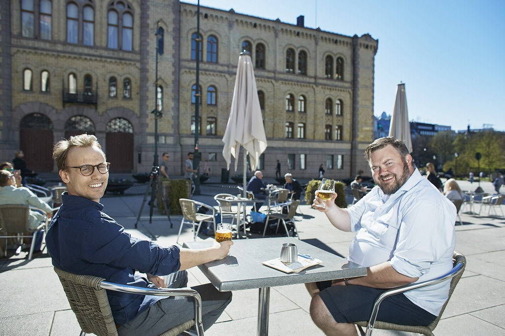 Henrik Lund - Joachim Langebrekke -Ringnes - Tostrup uteservering - Oslo