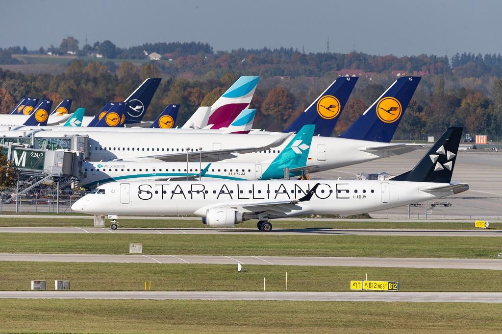 Lufthansa - langtidsparkerte fly - München