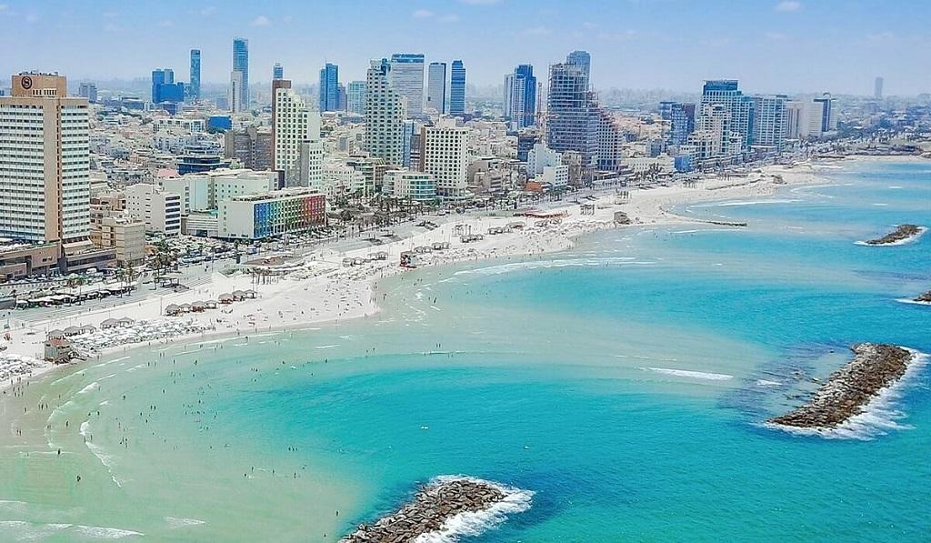 Tel Aviv - Israel - Badestrender - oversikt