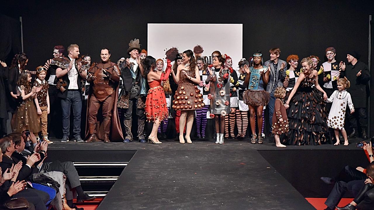 Chocolate fashion show - Salon du Chocolat - Brüssel - Flandern