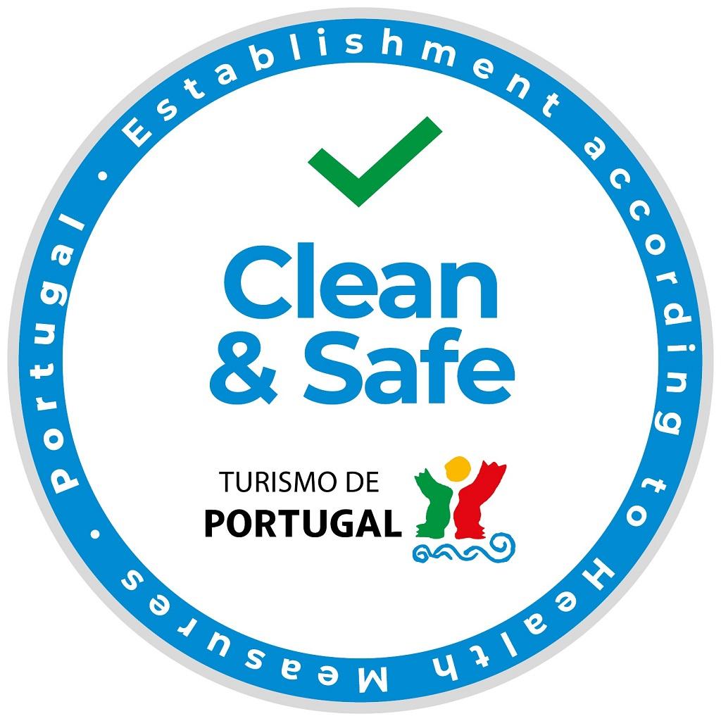 Kampanjelogo - Clean & Safe - Portugals turistråd