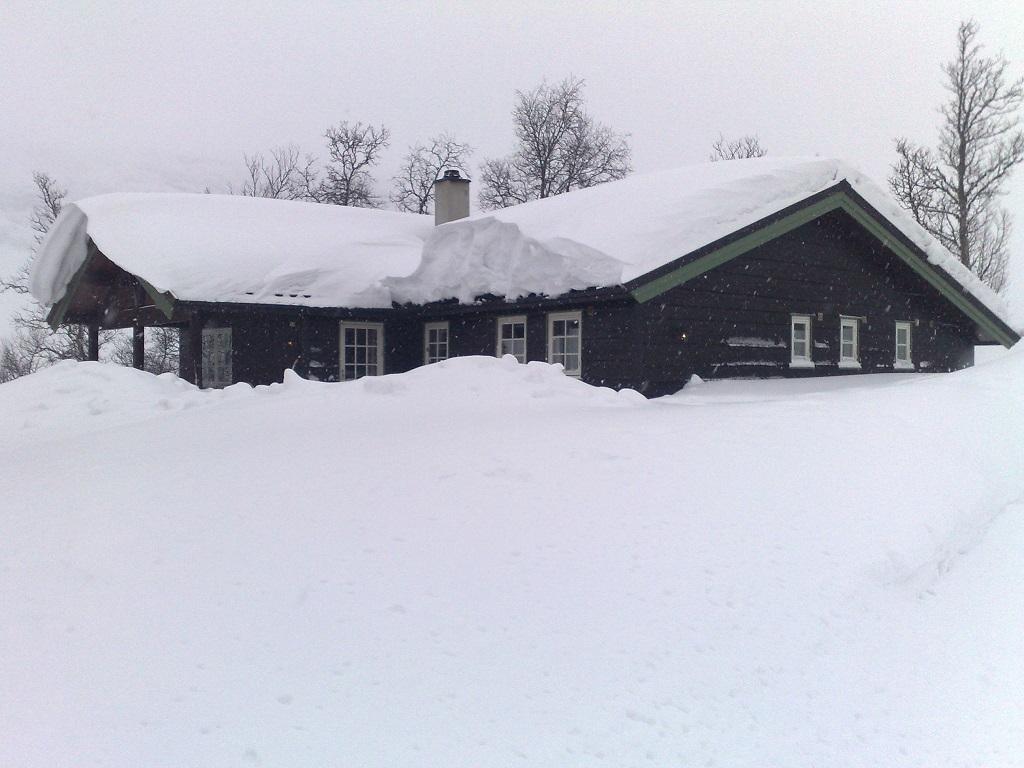 Hytte - tak - snø - måking - Codan