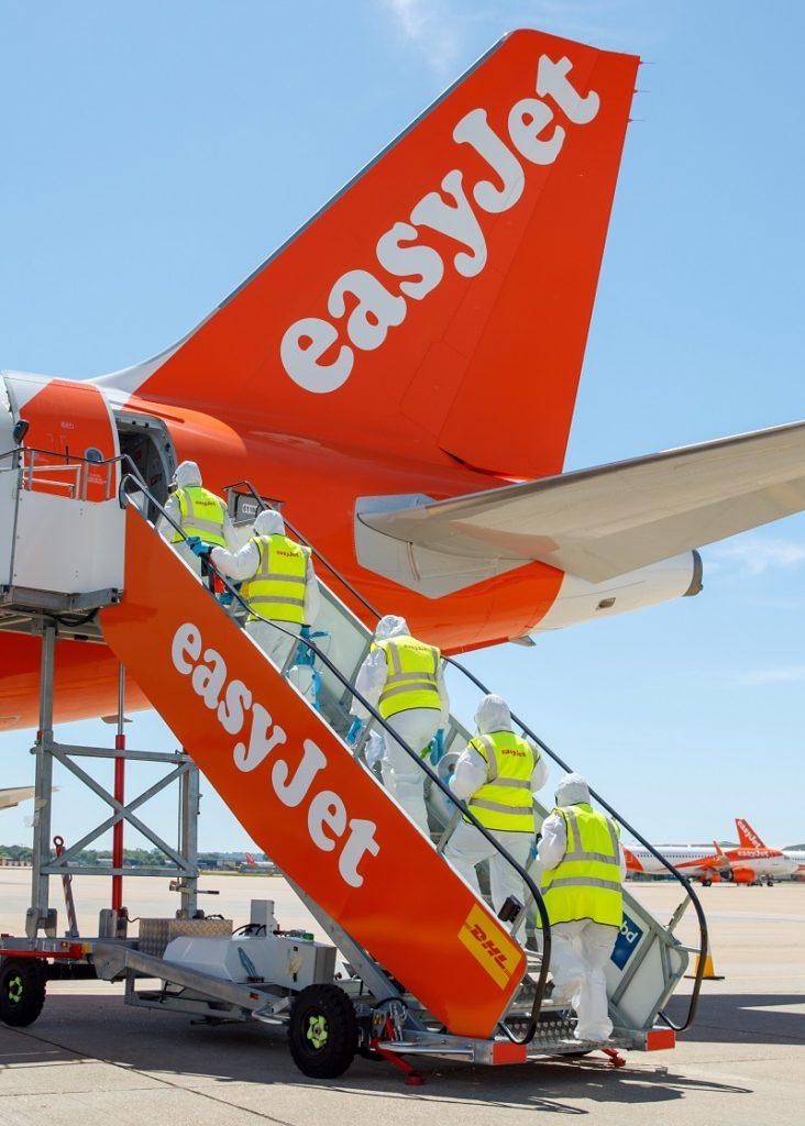 easyJet - rengjøringspatrulje - Covid-19 - Airbus A 320-family