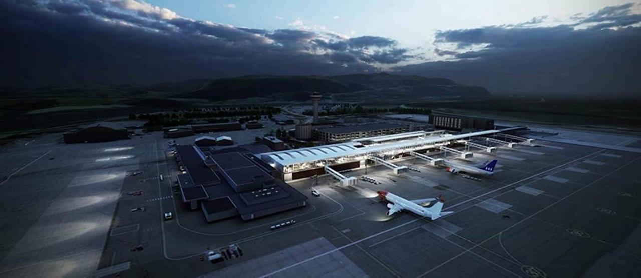 Trondheim Lufthavn - Værnes - Illustrasjon - Utvidelse - 2020