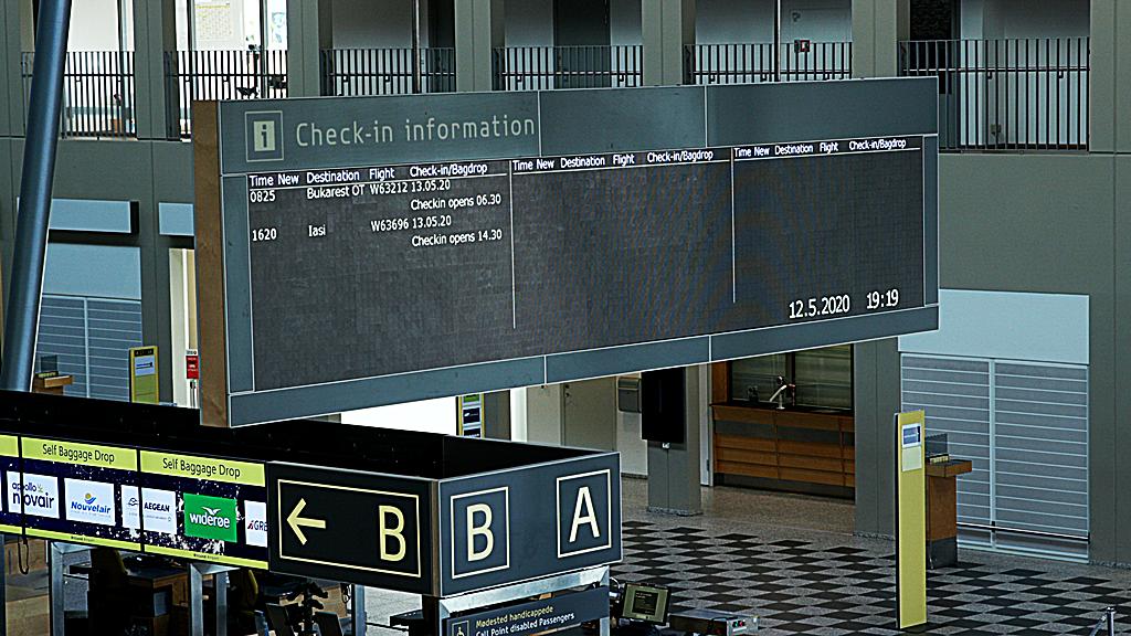 Infotavle - Billund lufthavn - Jylland - Danmark