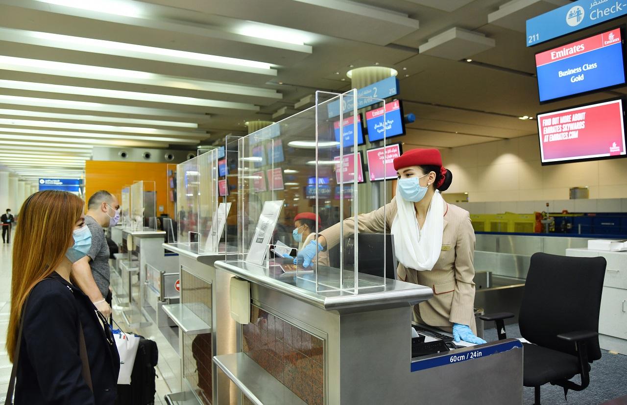 Emirates - Smitteverntiltak - Dubai Airport - Flyruter - Passasjerer - Coronakrisen 2020